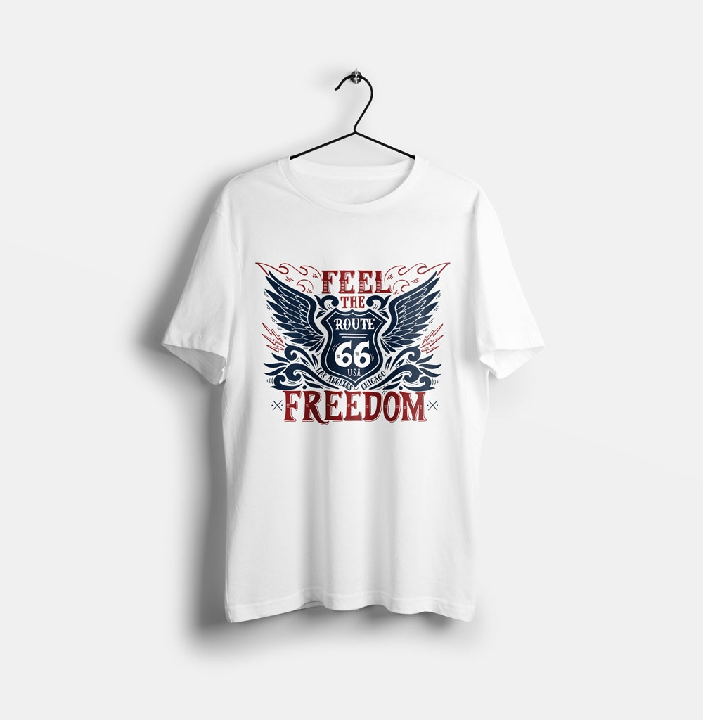 feel the freedom tişört