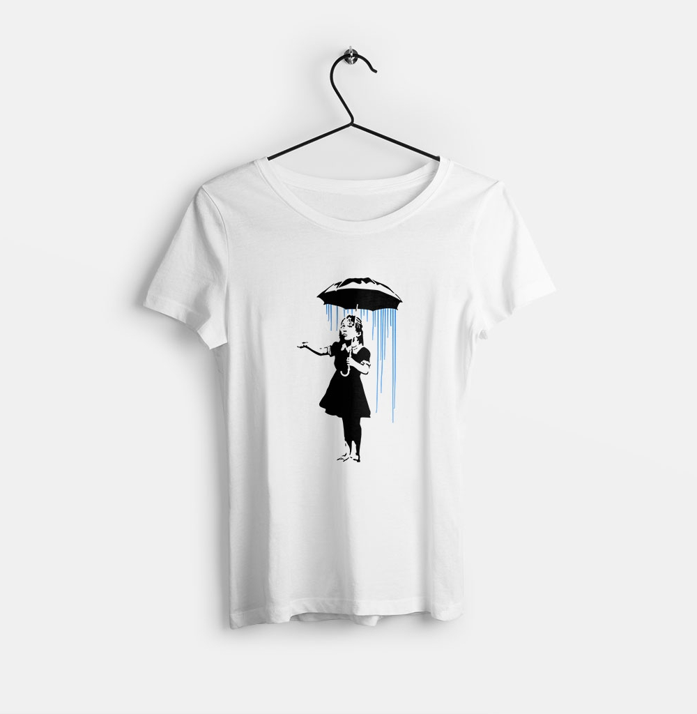 Banksy-art-girl-in-the-rain-bisiklet-yaka