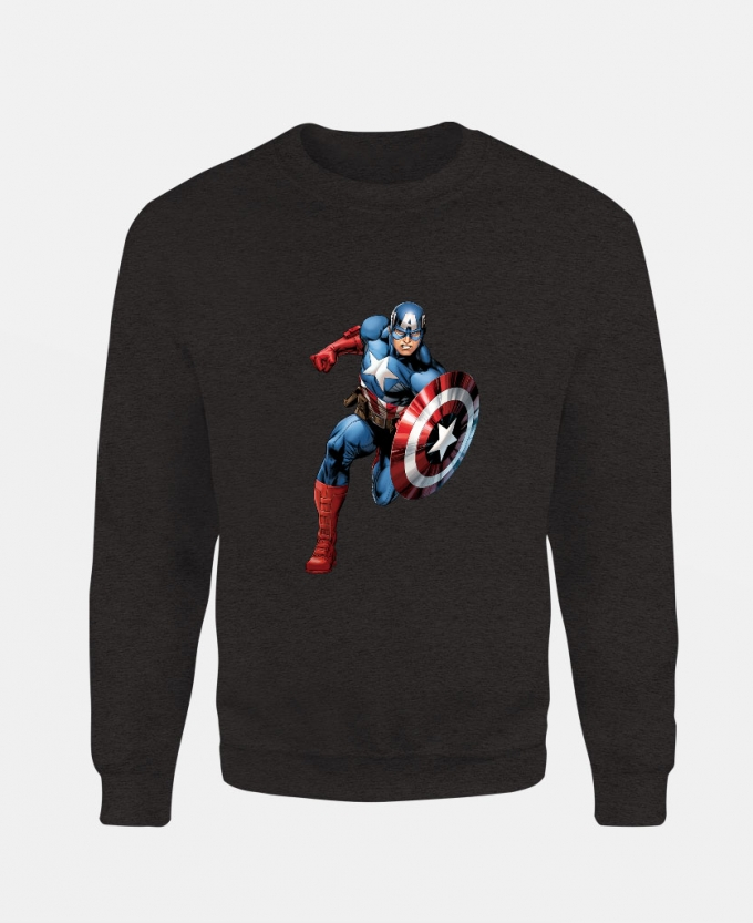 marvel-captain-baskili-unisex-sweatshirt-siyah
