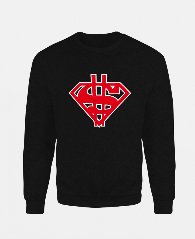 dollar-superman-baskili-unisex-sweatshirt-siyah
