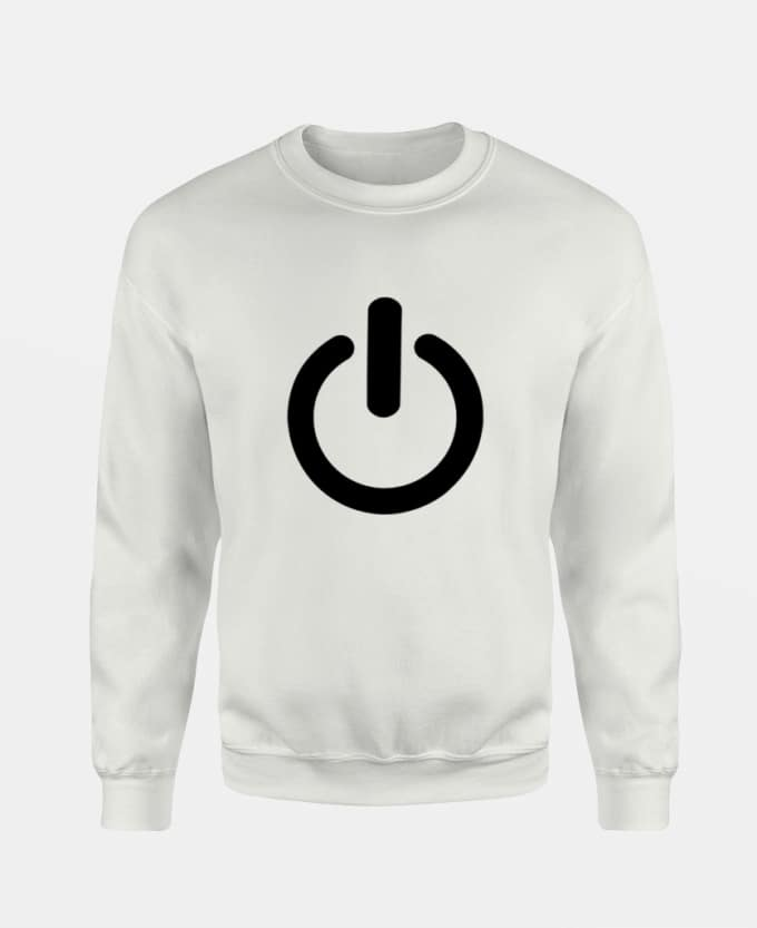 turn-off-baskili-unisex-sweatshirt-beyaz