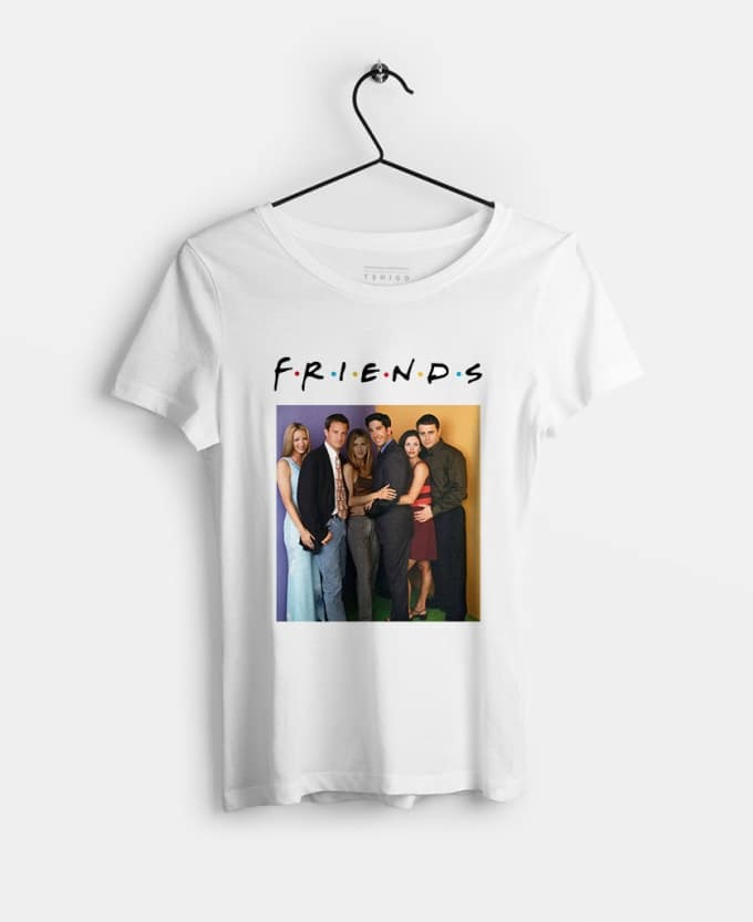 friends-tv-series-baskili-kadin-tisort