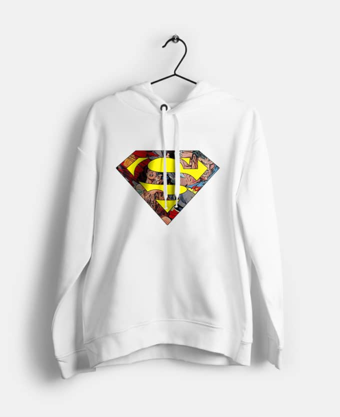 superman-baskili-kadin-kapsonlu-sweatshirt