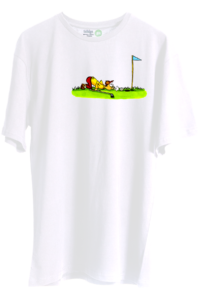 cartoon-golf-unisex-oversize-tisort-beyaz