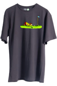 cartoon-golf-unisex-oversize-tisort-siyah